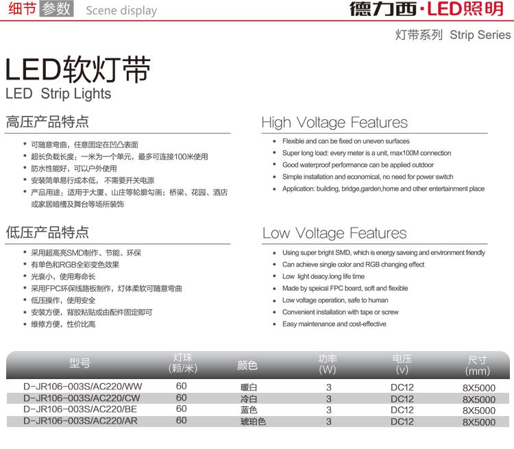 светодиодный дюралайт Delixi  LED 3528 60 - 11