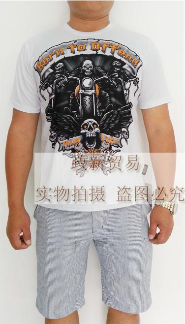 Мото футболка 2013夏装新款赛车休闲短袖摩托车t恤吸汗快干莱卡面料 赛车t恤