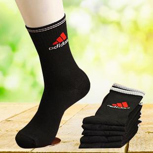 外贸原单品牌袜子 男女运动袜 5双装户外休闲情侣袜耐磨速干易洗