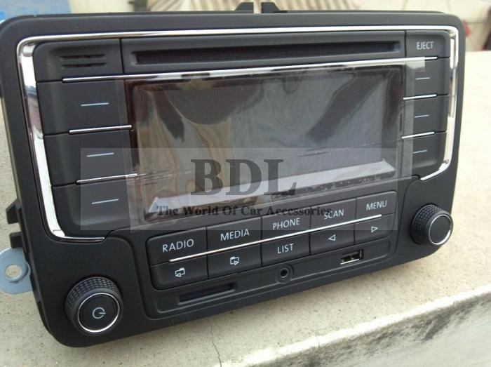 vw radio rcn210 cd mp3 player usb aux bluetooth for passat. Black Bedroom Furniture Sets. Home Design Ideas