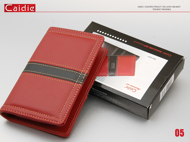 Caide Fashion Red Stainless Steel Manicure Set 9Pcs