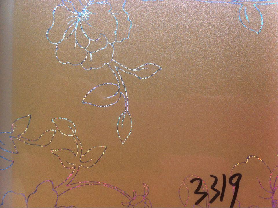 Наклейки на стекло 2014热卖款 橱柜晶钢门贴膜,玻璃贴膜 镭射牡丹花