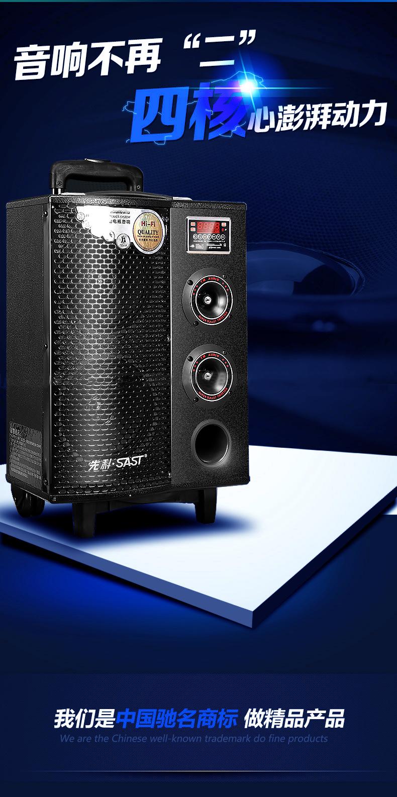 热款9002大功率8寸户外拉杆音响摆摊促销专业电瓶音响图片_3