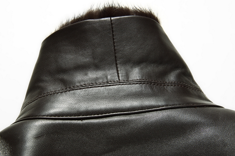 Rowe Carla Haining luoweikala new mens leather fur fur mink collar fur jacket wool 6516