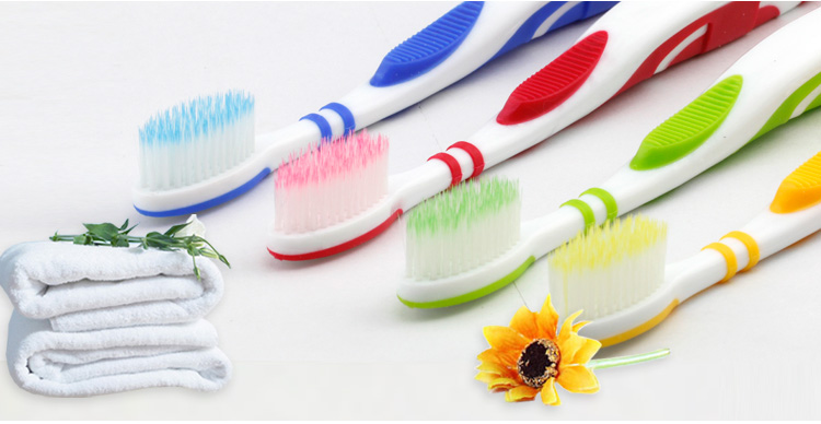 Smiling efficiently clean teeth toothbrush fur set of 4 manually clean the teeth protecting gingivitis gum gully cleaning Liya produces