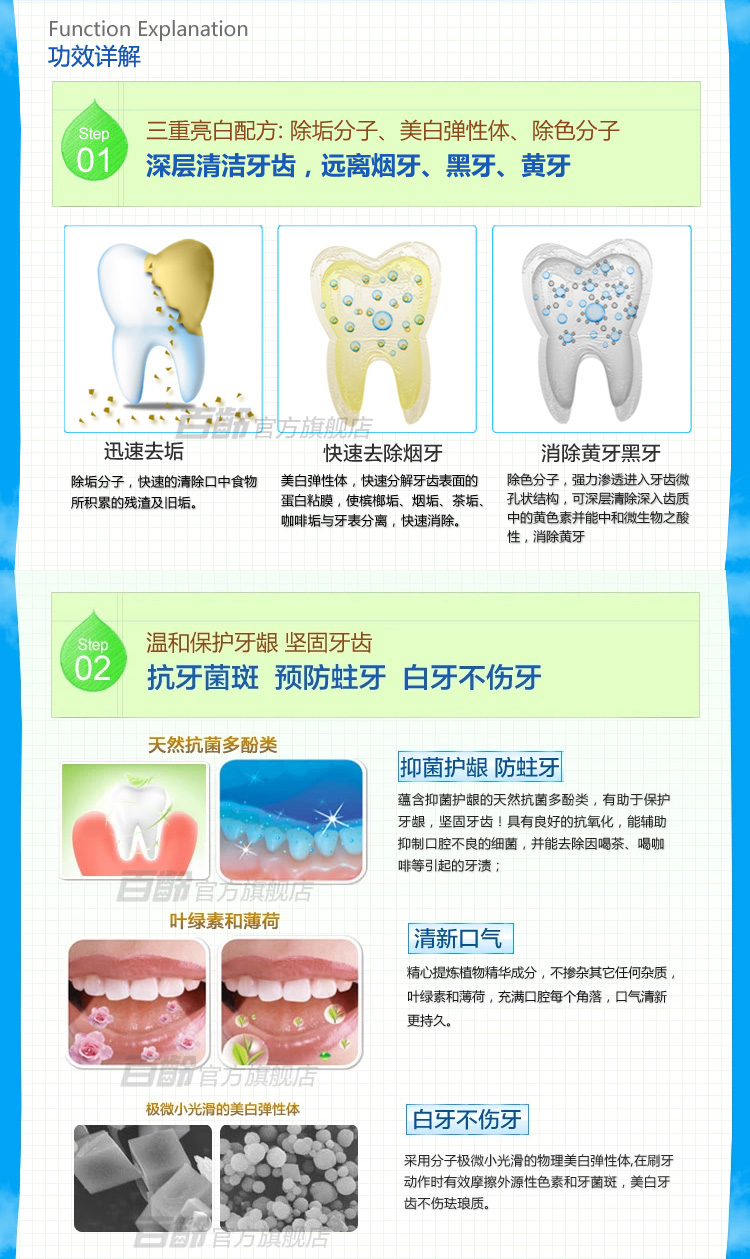 Smiling Taiwan import hundreds of authentic old tooth whitening quick clean g dentifrice wash/clean white teeth tooth