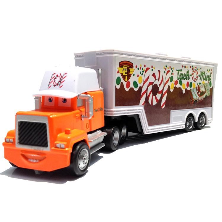 hot disney pixar cars 439586 kingchick hicksfrancescomack hauler truck toy ebay - Disney Cars Toys Truck