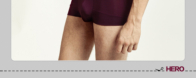 Seamless Modal Antibacterial U Convex Solid Color Slim Fit Middle Waist Mens Underwear Boxer Briefs