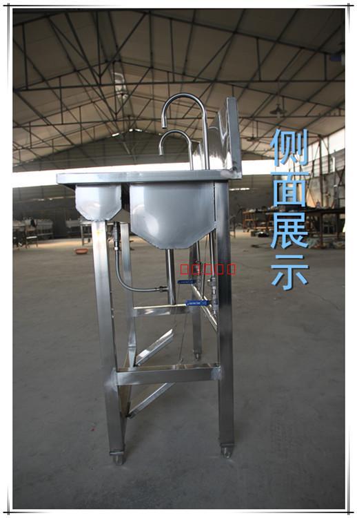 认证必备 GMP QS 分离洗手槽 厂家直销不锈钢脚踏式消毒洗手池
