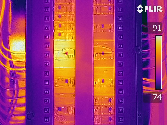 Electrical Panel - FLIR T640 Infrared Image with MSX