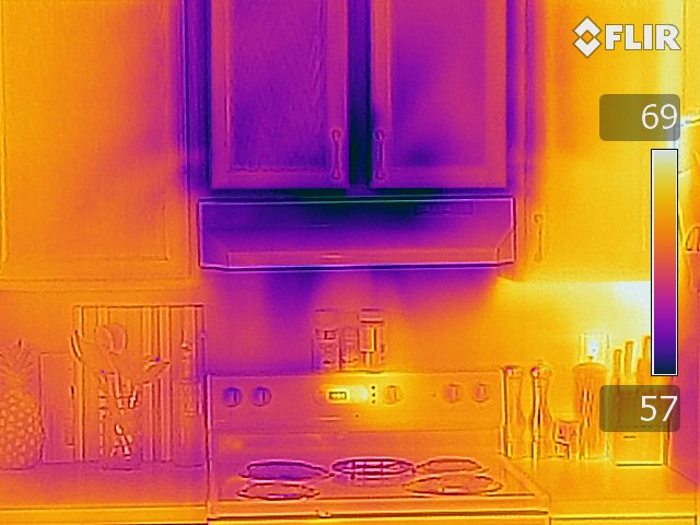 Cabinet - FLIR T640 Infrared Image with MSX