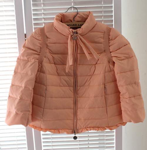 Женский пуховик Зима 2013 Новая волна корейской версии сладкий ребенок лук пуховик пальто женщин легко замок 9903