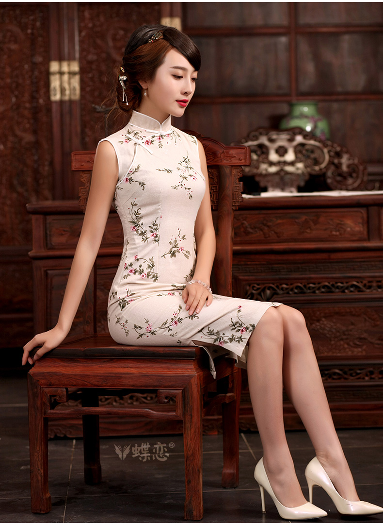 Butterfly Lovers spring 2015 new units, Ms Audrey EU, for cultivating dresses linen-Tie Style improved long cheongsam 45,020 Jenny XXL pictures, price, brand platters! Elections are good character, the national distribution, so why buy now enjoy more preferential! Health