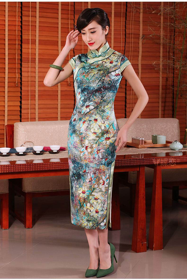 The Butterfly Lovers 2015 Summer new daily retro long cheongsam dress stylish Silk Cheongsam 54236 improved figure XL Photo, prices, brand platters! The elections are supplied in the national character of distribution, so action, buy now enjoy more preferential! As soon as possible.