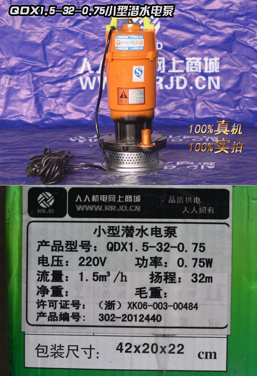 qdx750W小型潜水电泵-1