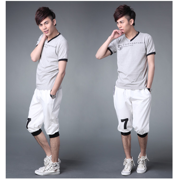 Sunshine handsome Korean men's summer shorts thin male models sport Wei pants pants men's pant casual pants men tide