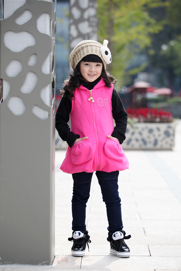 Baoyeah Angel Castle thickened vest long sleeve two piece female Korean autumn coat children's wear girls thick sweater