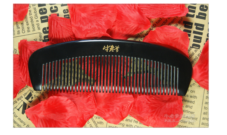Health comb pure off-health prevention natural black Horn Combs Combs