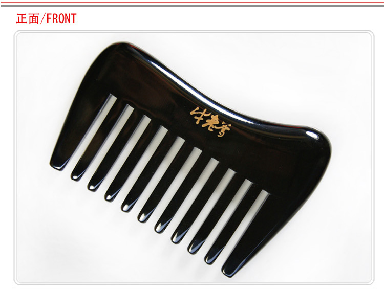 Health comb natural wide tooth hair black ox horn Combs a genuine massage aroma oils health
