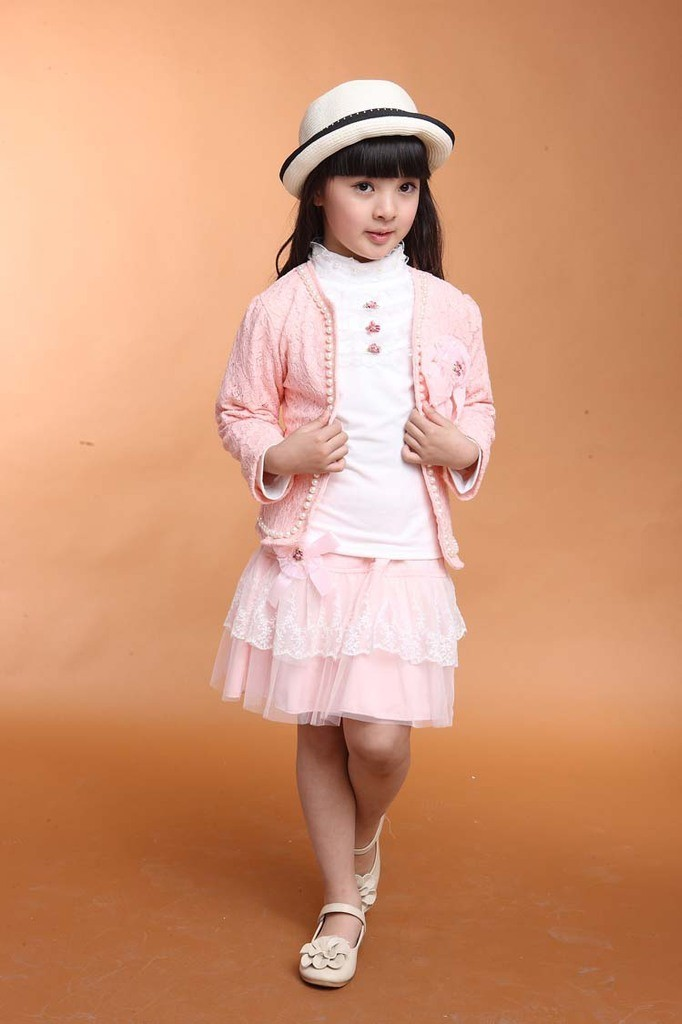 133 child Princess skirt lace suit baby spring jacket