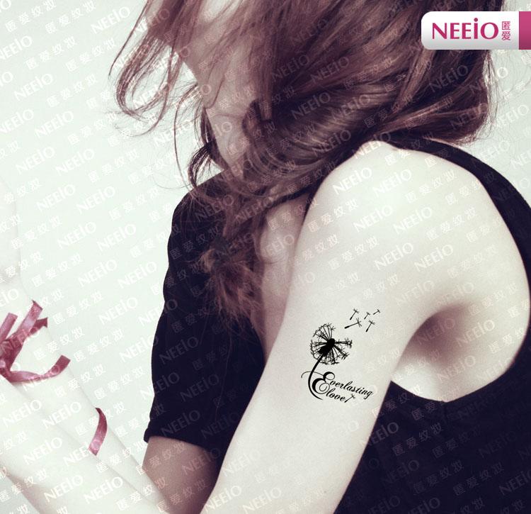 GeAiFei tattoo stickers waterproof mini version of Dandelion entire 2 Figure 5pcs