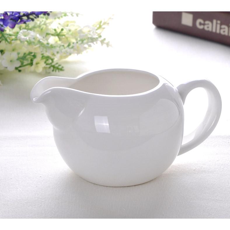 Соусница Сфера белого костяного фарфора кофе Кубок молока танк молока кувшин керамическая чашка воды 300 мл