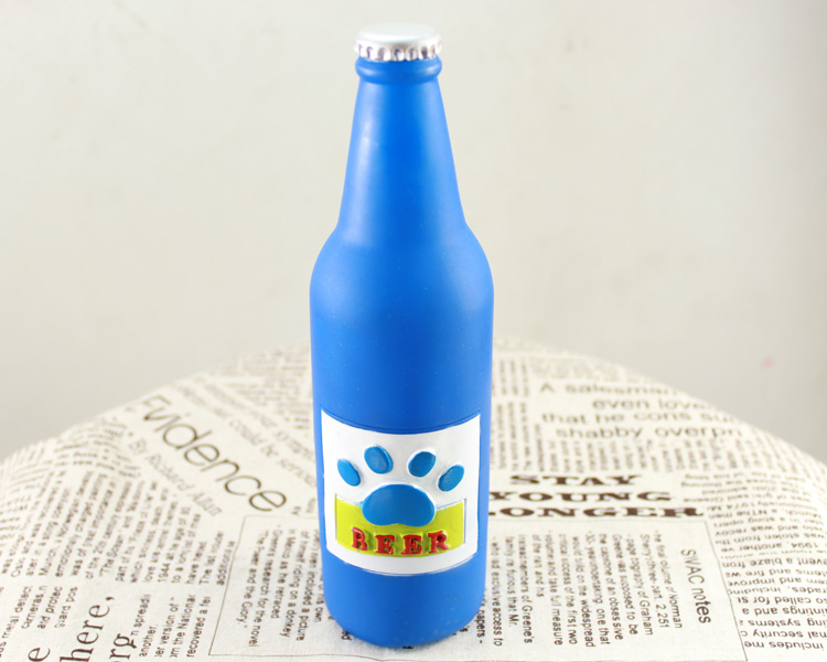 Newpett Tang Badi series talking pet toys-non-toxic green plastic beer bottles absolutely safe random colors