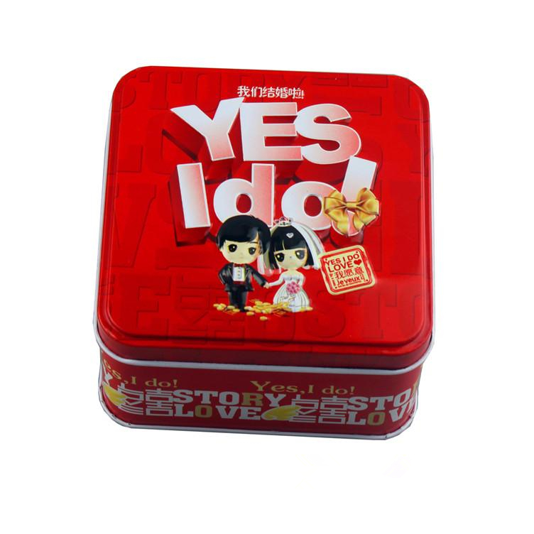 2012 new style rectangular Tin sugar sweet sugar box Chinese traditional tinplate happiness candies box
