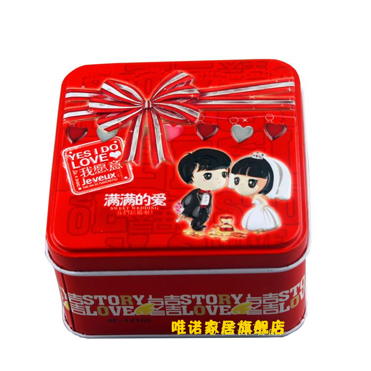 FEIJIAN 2012 new style rectangular Tin sugar sweet sugar box Chinese traditional tinplate happiness candies box