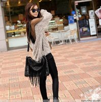 free shipping 2013 women's winter gauze patchwork fashion strapless racerback sexy medium-long knitted clothing