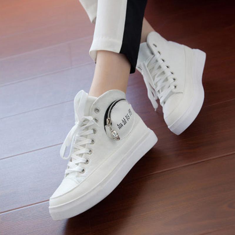 Женские кеды 2013 Новые корейской версии череп головы ЧАО обувь, которую высокий эспадрильи zip ремень Повседневная обувь студенческие