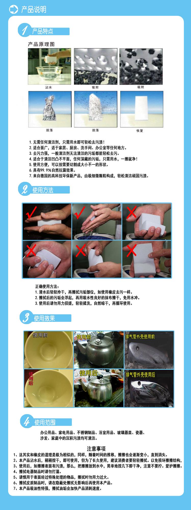 清洁海绵实用效果图示