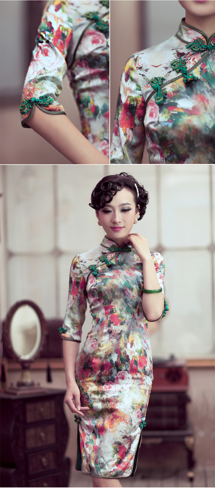 Love of birds and flowers impression ofspring 2015 new cheongsam dress retro style qipao skirt flower improved impressionS picture, prices, brand platters! The elections are supplied in the national character of distribution, so action, buy now enjoy more preferential! As soon as possible.