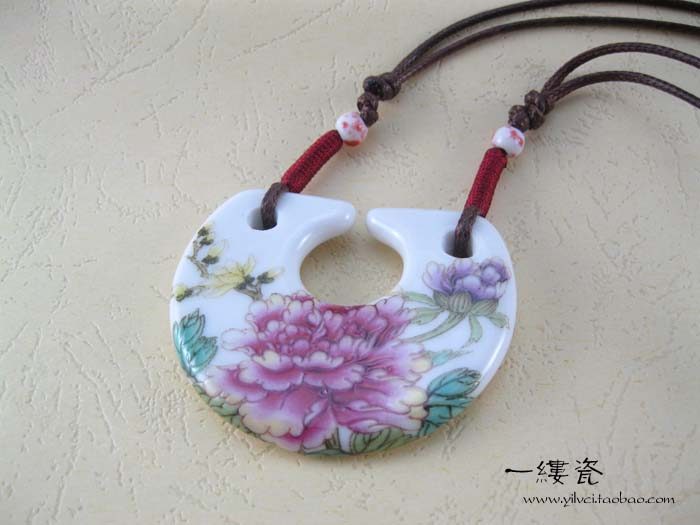 Raloved-HG Creative Flower Ceramic Stylish Decorative Pendent Ornaments