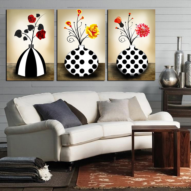 Yixuan Art Beatus Gallery new stylish living room picture frame painting bedroom abstract paintings murals of environmental protection abstract vase