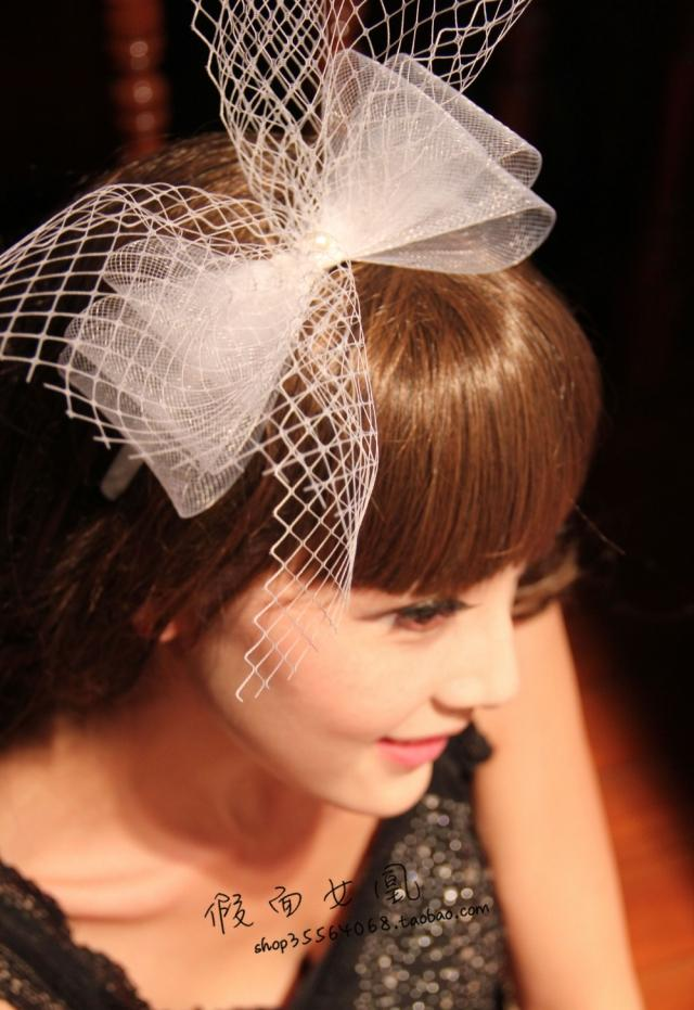Lovely Yarn Bow Bridal Wedding Headbands