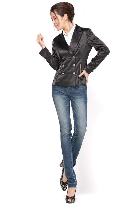 OSA2011秋装新款韩版华丽闪光 长袖外套女装SW11032