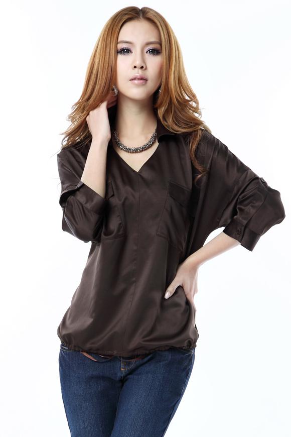 墨裳淡舞O.SA2012春装新款女装韩版大码修身女士衬衣衬衫