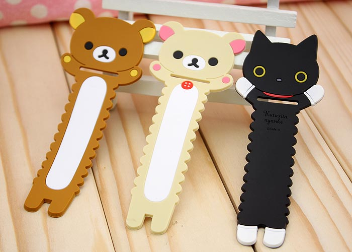 MOMO Saw-tooth Rilakkuma Earphone Cable Winder for iPhone MP3 MP4 cellphone 2PCS