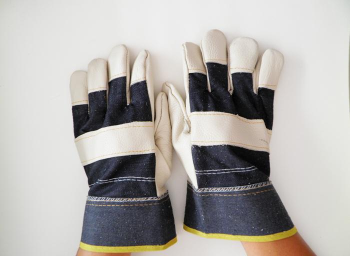 Защитные перчатки Сварочные перчатки замшевые воловьей кожи натуральной сварки защиты коротких сварочные перчатки износа удар стойкие перчатки Оптовая цена