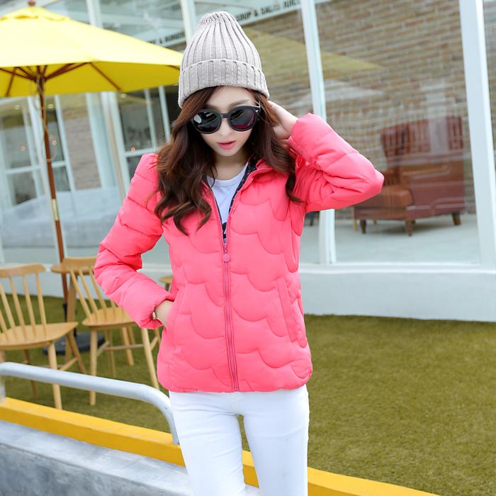 Женский пуховик Осень/зима 2014 корейской версии новые женские Слим похудение мода короткие хлопка куртка с конфеты цвета пуховик