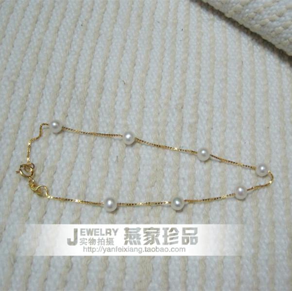 браслет Эксклюзивные ручной природных пресноводного жемчуга Браслет s925 стерлингового серебра браслет тонкий звезды отправить подруга спец