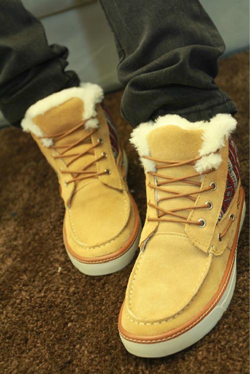 冬日鞋子男士服装搭配图片(3)