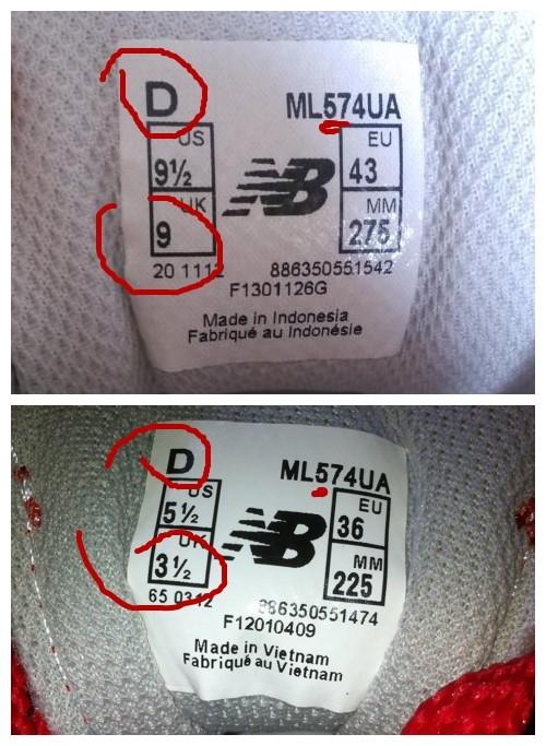 新百伦574鞋标的详细对比方法