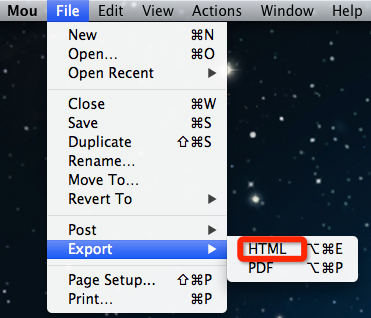 export to html